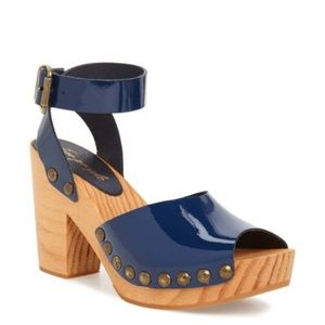 Free People Pasadena Clog Sandals Ankle Strap